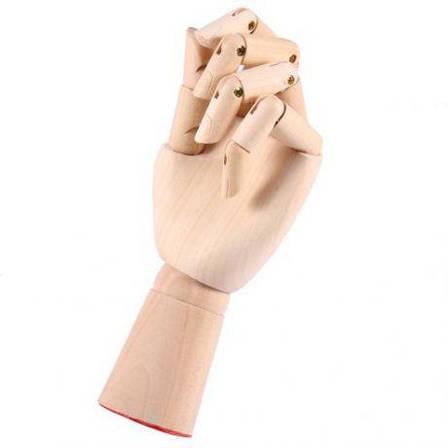 Деревянная рука манекен 29см модель для держания товара, для рисования (мужская), фото 2