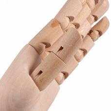 Деревянная рука манекен 29см модель для держания товара, для рисования (мужская), фото 3