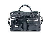 Мужской портфель из натуральной лаковой кожи, фото 1