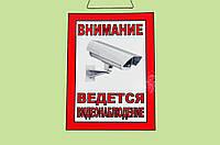 """Табличка """"Видеонаблюдение"""" 30х21 см"""