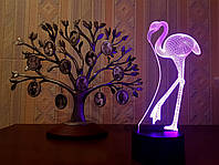 """3D ночник """"Фламинго"""" 3DTOYSLAMP, фото 1"""