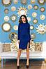 Классическокое деловое платье футляр с разрезом по ноге, фото 6