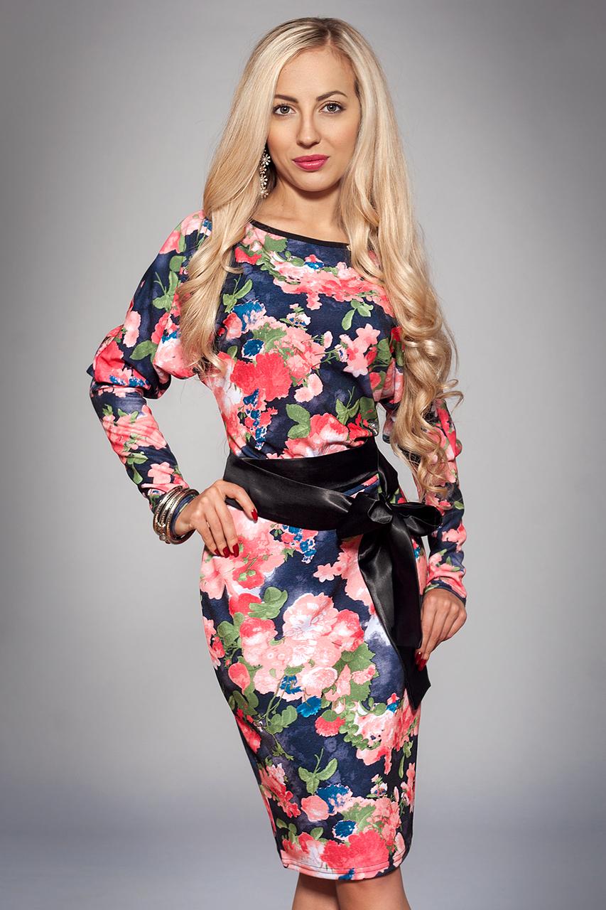 Платье женское модель №173-2, размеры 52 черное