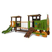 Деревянный Паровозик с вагоном Лето InterAtletika