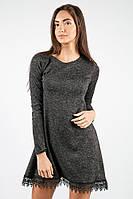 Платье женское с кружевным ободком 34P005 (Грифельный)