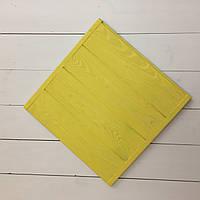 Деревянный фотофон жёлтый