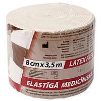 Бинт медицинский эластичный 2 Latex Free 8смх3,5м Lauma