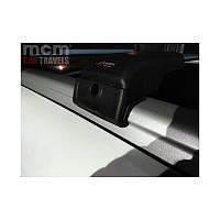 BMW X3 E83 Поперечный багажник на интегрированные рейлинги серого цвета