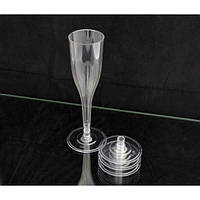 Бокал для шампанского 150 мл. 96 шт/уп стеклоподобный