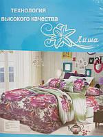 """""""Лиша"""" 3D Комплект постельного белья  разные цвета 2-спальный"""