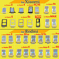 Держатель SIM-карты Xiaomi Mi5, 2sim черный