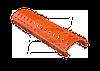 Аэроэлемент конька со щетками WK 62 (ПВХ; 1м х 22см)