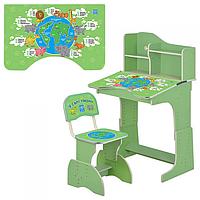 Детская парта Растишка HB 2071M03-02 зеленая Укр