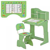 Детская парта Растишка HB 2071M03-05 зеленая Укр