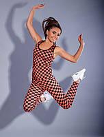 Женский костюм для фитнеса геометрия р-ры от 42 до 54 / 2 цвета арт 4032-550