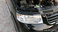 Volkswagen T5 Transporter 2003-2010 гг. Реснички для фар (2 шт, черные) Глянец
