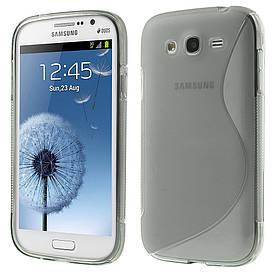 Чехол TPU S формы на Samsung Galaxy Grand Duos I9082 Серый
