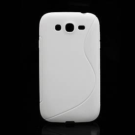 Чехол TPU S формы на Samsung Galaxy Grand Duos I9082 Белый