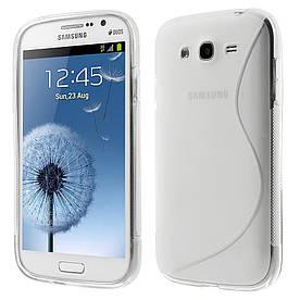 Чехол TPU S формы на Samsung Galaxy Grand Duos I9082 Прозрачный