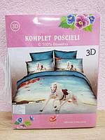 """""""Лиша"""" 3D Комплект постельного белья  разные цвета 1.6-спальный"""