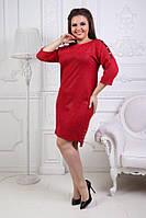 Платье больших размеров 50+ с блестящим напылением, украшено камнями / 3 цвета арт 4049-543