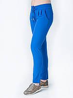 Модные женские синие брюки со шнурками на поясе