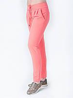 Стильные женские брюки кораллового цвета. Ткань - тиар