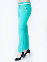 Яркие женские брюки бирюзового цвета. Размеры: 42-48