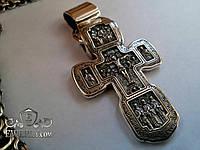 Большой мужской серебряный крест с чернением. (24 г)