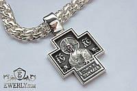 Православный серебряный крест без распятия. (30 г)