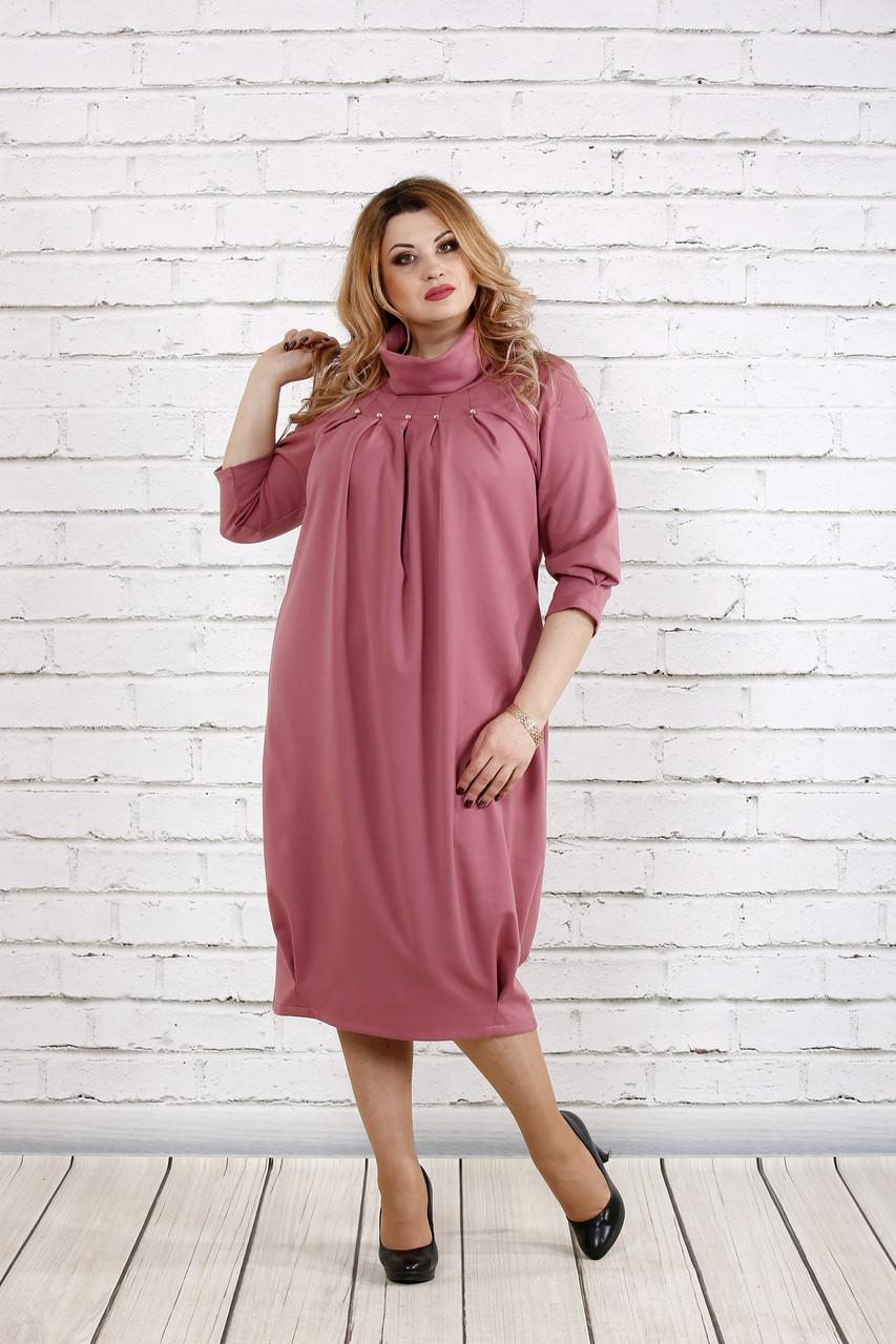 Свободное платье-мешок фрезия | 0744-1