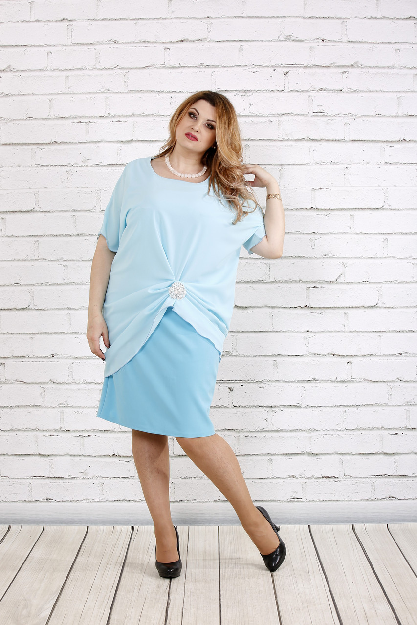 Голубое платье | 0745-1