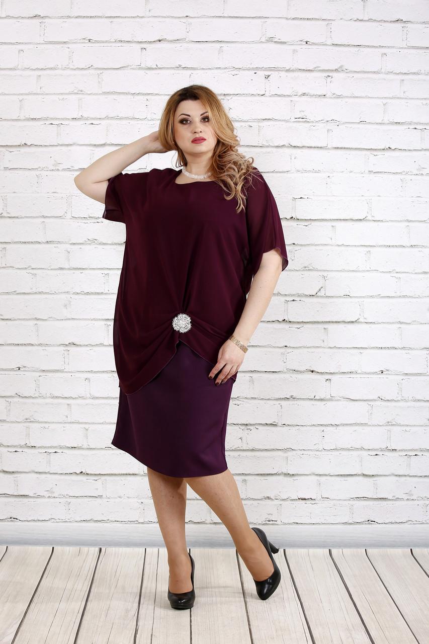 Баклажановое платье | 0745-3