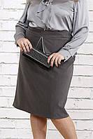 Темно-серая юбка из вискозы | 0749-1