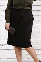 Черная стильная юбка | 0749-2