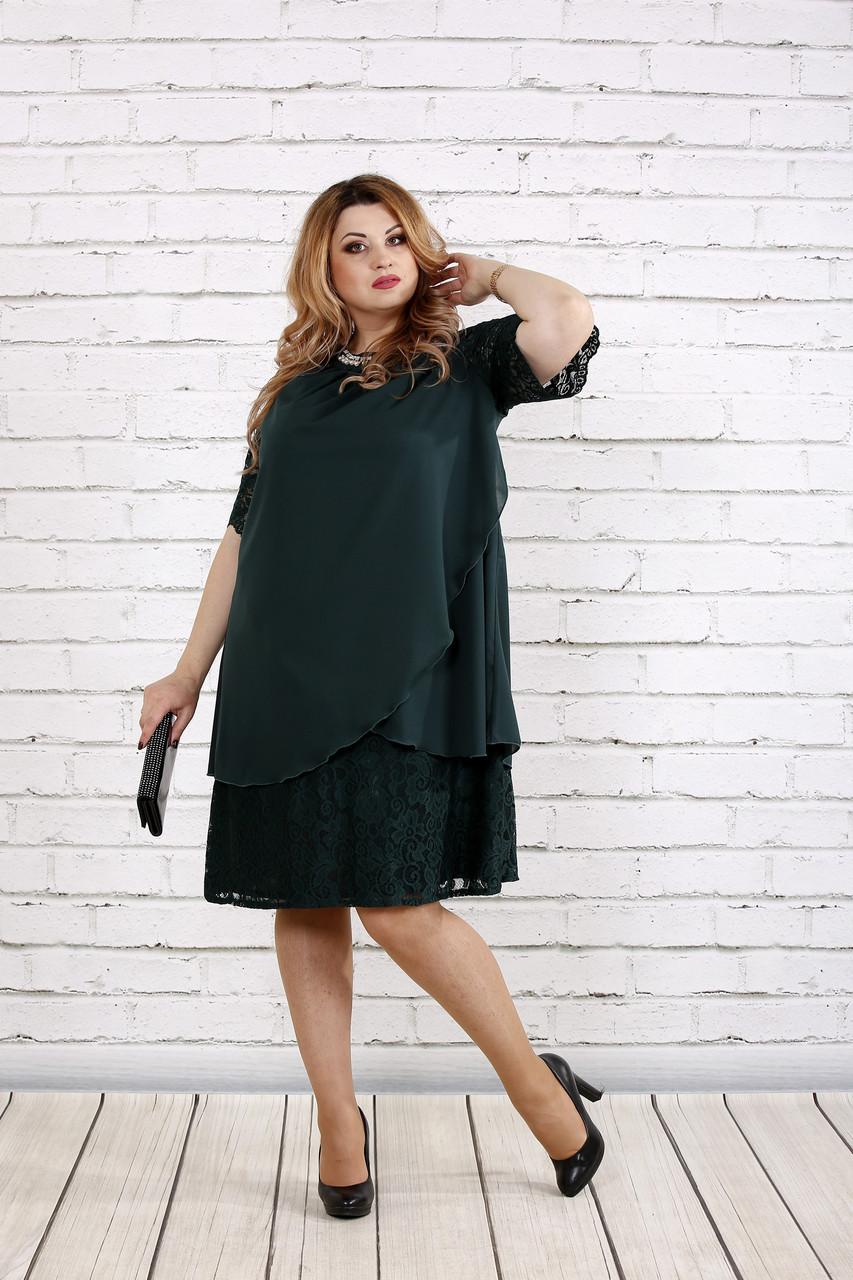 Зеленое скрывающее платье | 0751-2