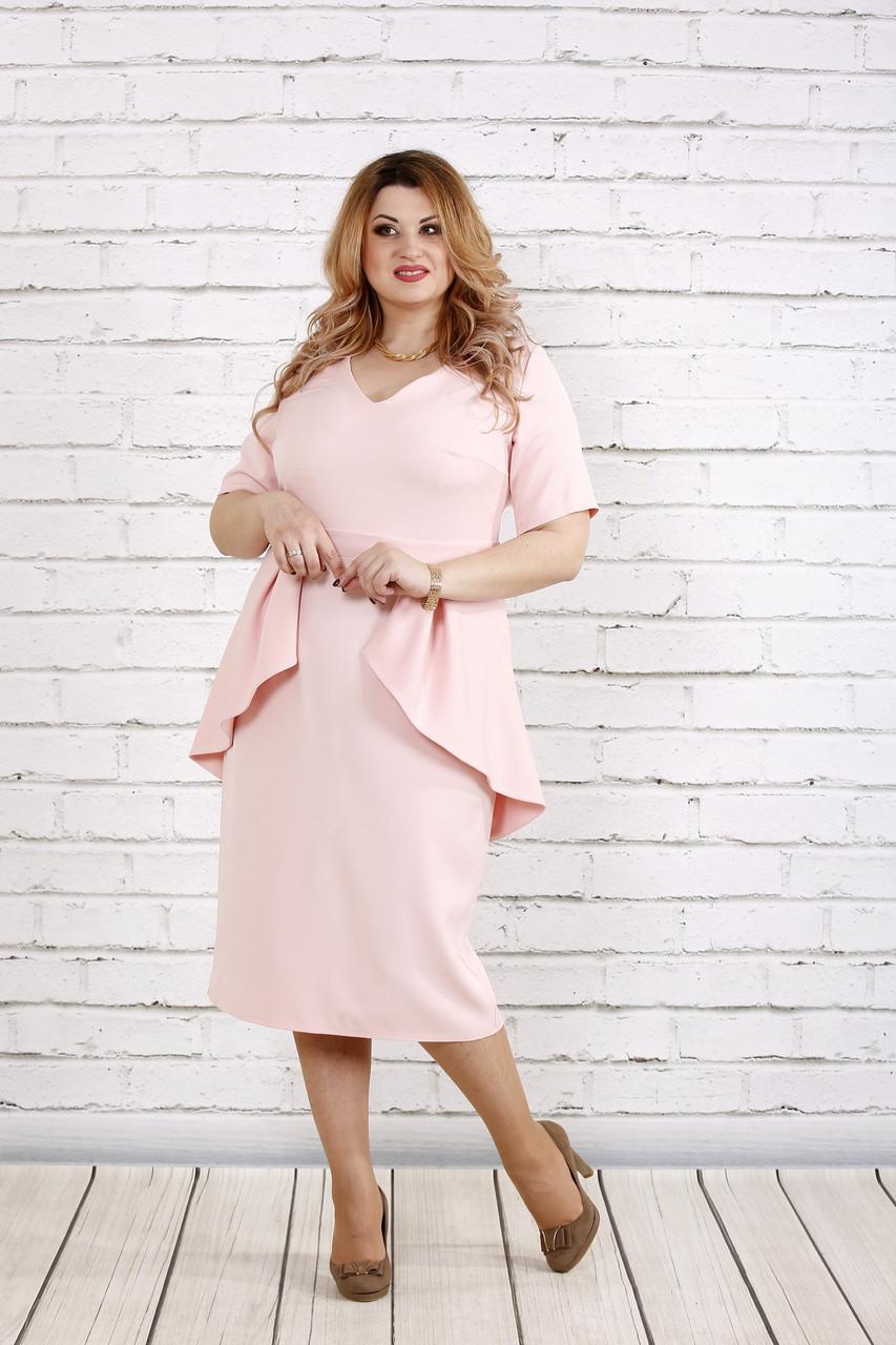 Платье очень красивого цвета пудры   0752-1