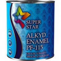 Эмаль ПФ-115 Super Star, темно-коричневая, 50 кг 0,9 кг(копия)