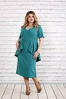 Бирюзовое красивое платье | 0752-3