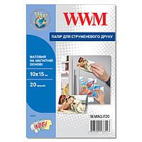 Фотобумага WWM матовая на магнитной основе 10см x 15см , 20л