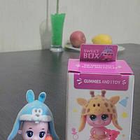 Sweet box игрушка Пупсы в шапочках + конфета желе 10г. , фото 1