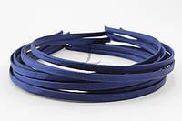 Обруч для волос тканевый синий 0,5см