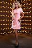Классическое платье трапеция с кружевом и коротким рукавом 44-50 размера