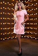 Классическое платье трапеция с кружевом и коротким рукавом 44-50 размера, фото 1