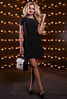 Класичне плаття трапеція з мереживом і коротким рукавом 44-50 розміру, фото 1