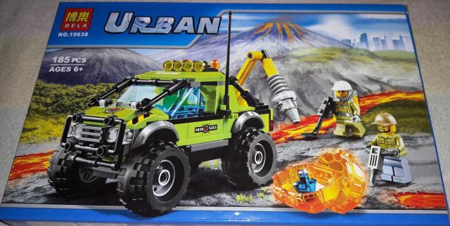 Конструктор Bela 10638 Urban Вулкан: разведывательный грузовик 185 дет