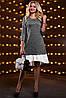 Асиметричне плаття вільного крою з воланом по низу 42-48 розміру