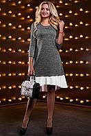Ассиметричное платье свободного кроя с воланом по низу 42-48 размера afab02cbe5c