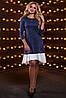 Ассиметричное платье свободного кроя с воланом по низу 42-48 размера