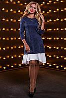 Ассиметричное платье свободного кроя с воланом по низу 42-48 размера, фото 1